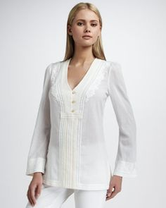 Aleksi Voile Tunic by Tory Burch at Neiman Marcus.