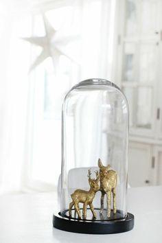 la cloche en verre et la cloche à gateau en verre pour une deco de noel originale