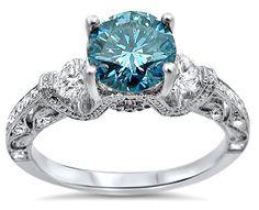 1.56ct Blue Diamond 3 Stone Engagement Ring 18k White Gold Front Jewelers http://www.amazon.com/dp/B00PZHJ1YE/ref=cm_sw_r_pi_dp_yOIMub066VHCB