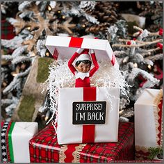 Christmas Fun for Parents & Kids: 5 Super Simple Return Ideas for Elves - The Elf on the Shelf Xmas Elf, Noel Christmas, All Things Christmas, Funny Christmas, Christmas Ideas For Kids, Elf Christmas Decorations, First Christmas, Christmas Gifts, Christmas Activities