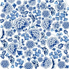 Floral Pattern Illustration - Trend Topic For You 2020 Japon Illustration, Pattern Illustration, Chinese Patterns, Japanese Patterns, Molduras Vintage, Blue Pottery, Motif Floral, Chinese Art, Chinese Prints