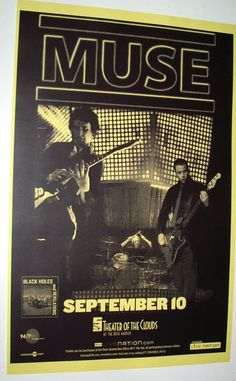 Muse Poster Concert $9.84 #Muse Black Holes