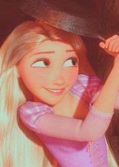 Rapunzel and her frying pan - Disney's Tangled (2010)