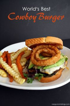 One of my favorite easy hamburger recipes. Cowboy burgers are the best! #springintoflavor #ad