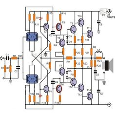 100Watts Transistor Power Amplifier