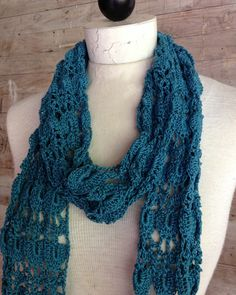 Picture of Shells & Lace Scarf Crochet Pattern