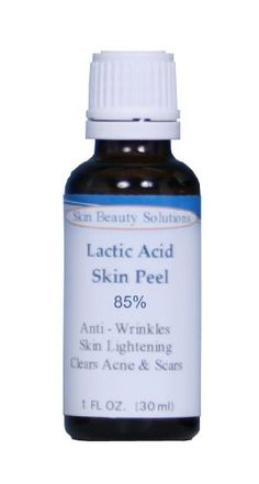 (1 oz / 30 ml) LACTIC Acid 85% Skin Chemical Peel- Alpha Hydroxy (AHA) For Acne, Skin Brightening, Wrinkles, Dry Skin, Age Spots, Uneven Skin Tone, Melasma  More (from Skin Beauty Solutions)
