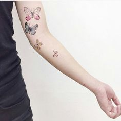 #butterfly #tattoo #girly #colorful #arm