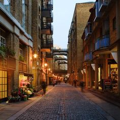 London Alley With Skywalks