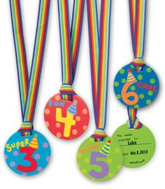 birthday medals for each child on his/her special day