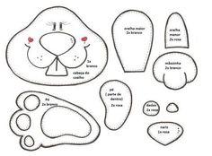 Afbeeldingsresultaat voor moldes de coelhos de pascoa em feltro