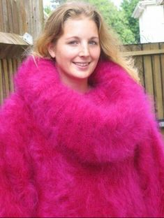 Fluffy Sweater, Angora Sweater, Pink Sweater, Gros Pull Mohair, Maxi Robes, Puffy Jacket, Cozy Sweaters, Turtle Neck, Wool
