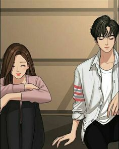 suho x jukyung Cute Couple Drawings, Cute Couple Art, Anime Couples Drawings, Anime Love Couple, Cute Anime Couples, Cute Love Wallpapers, Cute Couple Wallpaper, Girl Cartoon Characters, Cute Love Cartoons