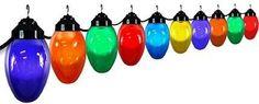 Polymer Products LLC 1661-77515 Giant Christmas Bulb Ten Globe String Light Set, As Shown