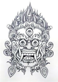 Tattoo Designs, Lion Tattoo Design, Tattoo Design Drawings, Tattoo Sketches, Tattoo Bein, Demon Tattoo, Mask Tattoo, Asian Tattoos, Trendy Tattoos