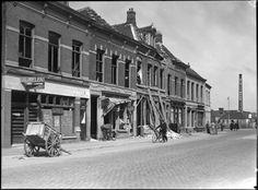 Breda - Terheijdenstraat - 1940 - Oorlogsschade.