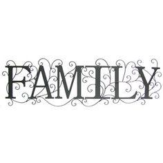 Black Family Metal Wall Decor | Shop Hobby Lobby