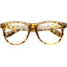 34ebddd03b0 Dapper Horned Rim Large Rx Clear Lens Glasses 9993 (€17) ❤ liked on
