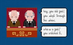 (10) Name: 'Embroidery : Statler and Waldorf Cross Stitch Chart
