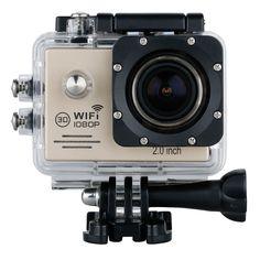 "Mini 2"" 14MP 1080P WiFi Full HD Waterproof Action Cam DV Sport Helm Camera Gold #Affiliate"