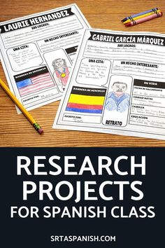6 Research Projects for Spanish Class - Srta Spanish
