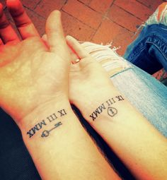 Roman Numeral Tattoo. Would love to do this as a mother daughter thing with birthdays :)