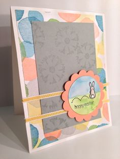 Stampin up Easter card using Eggstra Spectacular for the Stampin Friends March sketch it.