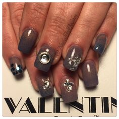 NAILEDIT #nails #nailsdid #nailswag #nailsdone #nailstagram #instanails #nailstyle #nailgram #moodchanging #acrylic #blingnails #didthat #diditonem #nailporn #nailedit #naildiva #nailsofinstagram #chicagonails #valentino #diamonds