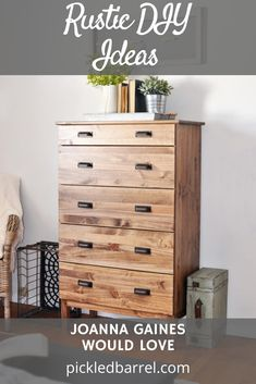 Pickledbarrel.com is the ultimate source for charming farmhouse inspo! Check out decor ideas and DIY projects that are Hearth & Hand worthy! Try out these simple rustic DIYs that are Joanna Gaines approved. Rustic Farmhouse, Rustic Wood, Vintage Family Photos, Joanna Gaines Style, Ikea Dresser, Diy Sliding Barn Door, Wood Framed Mirror, Metal Drawers, Wood Shelves