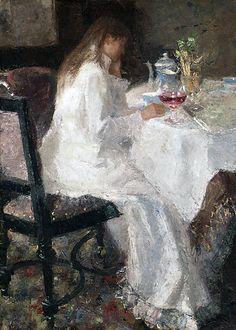 Jean Theodoor Toorop (1858 – 1928). Dame en blanche (Annie Hall)  1886  Oil on…