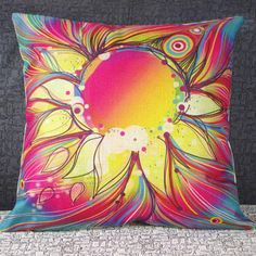 Classical Flower Pattern Decorative Pillowcase(Without Pillow Inner)