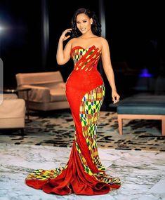 African Formal Dress, African Print Wedding Dress, African Traditional Dresses, African Print Dresses, African Print Fashion, African Fashion Dresses, African Dress, African Outfits, Ankara Fashion