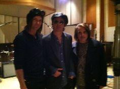 Timo Kaltio recording w/ Izzy - Guns N' Roses - GunsNFNRoses