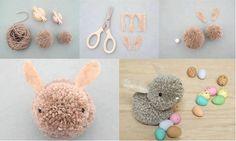 DIY Pom-Pom Bunnies