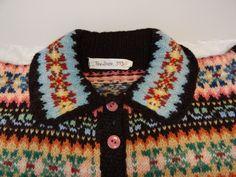1940's vintage Fairisle jumper from Shetland Museum archives.