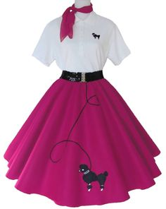Keeping up with the fashion with these poodle skirts womens - 4 pc poodle skirt outfit for adult s m l xl IRMSKGX Sock Hop Outfits, 50s Outfits, Skirt Outfits, Vintage Outfits, Rave Outfits, Poodle Skirt Costume, Poodle Skirt Outfit, Poodle Skirts, 50s Costume