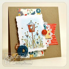 Snappy Stampin' w/ Arielle: HAPPY BIRD HOUSE / DS #202 & ADFD Showcase...