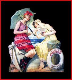 Coca-Cola delicious and refreshing plakát Coca Cola Poster, Coca Cola Ad, Always Coca Cola, World Of Coca Cola, Vintage Advertisements, Vintage Ads, Vintage Prints, Vintage Posters, Sodas