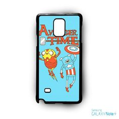 Adventure Time The Avenger Captain America And Ironman for Samsung Galaxy Note 2/Note 3/Note 4/Note 5/Note Edge phone case