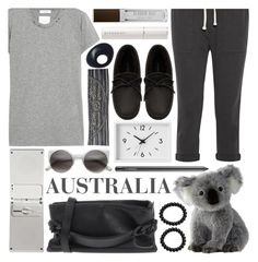 """""""hello, australia!"""" by foundlostme ❤ liked on Polyvore featuring Muji, Maison Margiela, James Perse, MAC Cosmetics, Valentino, Claudio Riaz, Isabel Marant, BCBGeneration, Monies and Givenchy"""
