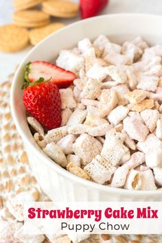 Learn how to make this simple and delicious Chex mix recipe: The Best Ever Strawberry Oreo Puppy Chow. It's an easy, no bake recipe with just five easy ingredients. Perfect for a snack, sweet treat, party or holiday. Click through for the recipe from www.threesnackateers.com | Three Snackateers    #pink #whitechocolate #cakebatter #muddybuddies Puppy Chow Recipes, Chex Mix Recipes, Baking Recipes, Strawberry Shortcake Oreos, Check Mix, Muddy Buddies Recipe, Oreo Cookies, Chow Chow, Cake Batter