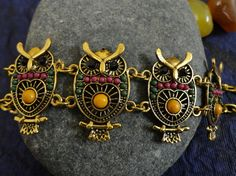 Unique Owl Design Delicate Chain Bracelet by OMyGlam on Etsy