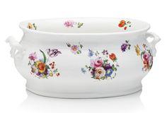Floral Porcelain Foot Bath