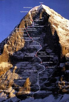 The deadly north face of the Eiger.