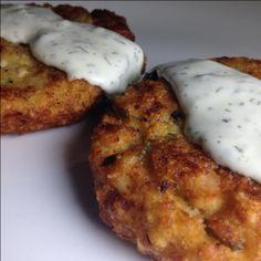 Gluten Free Tuna Cakes with Creamy Dill Sauce Recipe