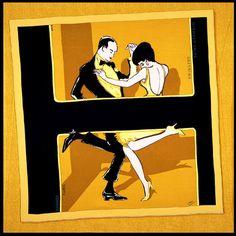 "Carré  Hermès  -  ""Swinging"""