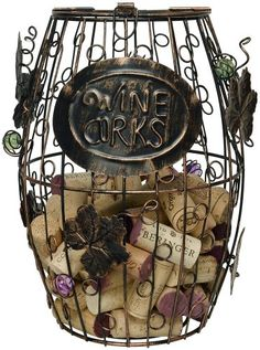Wine Racks - HomeX Wine Barrel Cork Holder Wine Cork Holder ** For more information, visit image link.