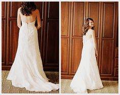 The gorgeous wedding dress of Emily from the Berry. Congrats!