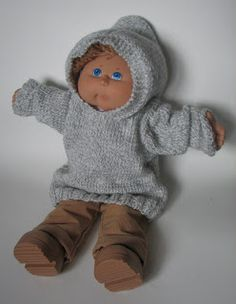 Cabbage patch doll pattern free patterns cabbage patch dolls knit baby hoodie hats and booties reminds me of good old cabbage patch days dt1010fo