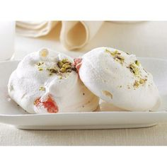 Rosewater and turkish delight meringues recipe | FOOD TO LOVE